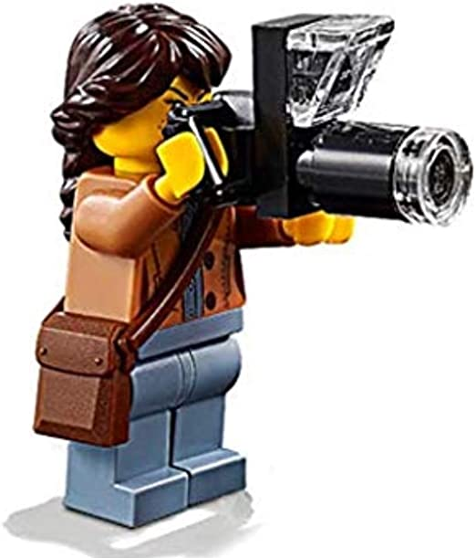 LEGO Minifig MOVIE CAMERA with Clear Lense Take and Antenna TV Cinema