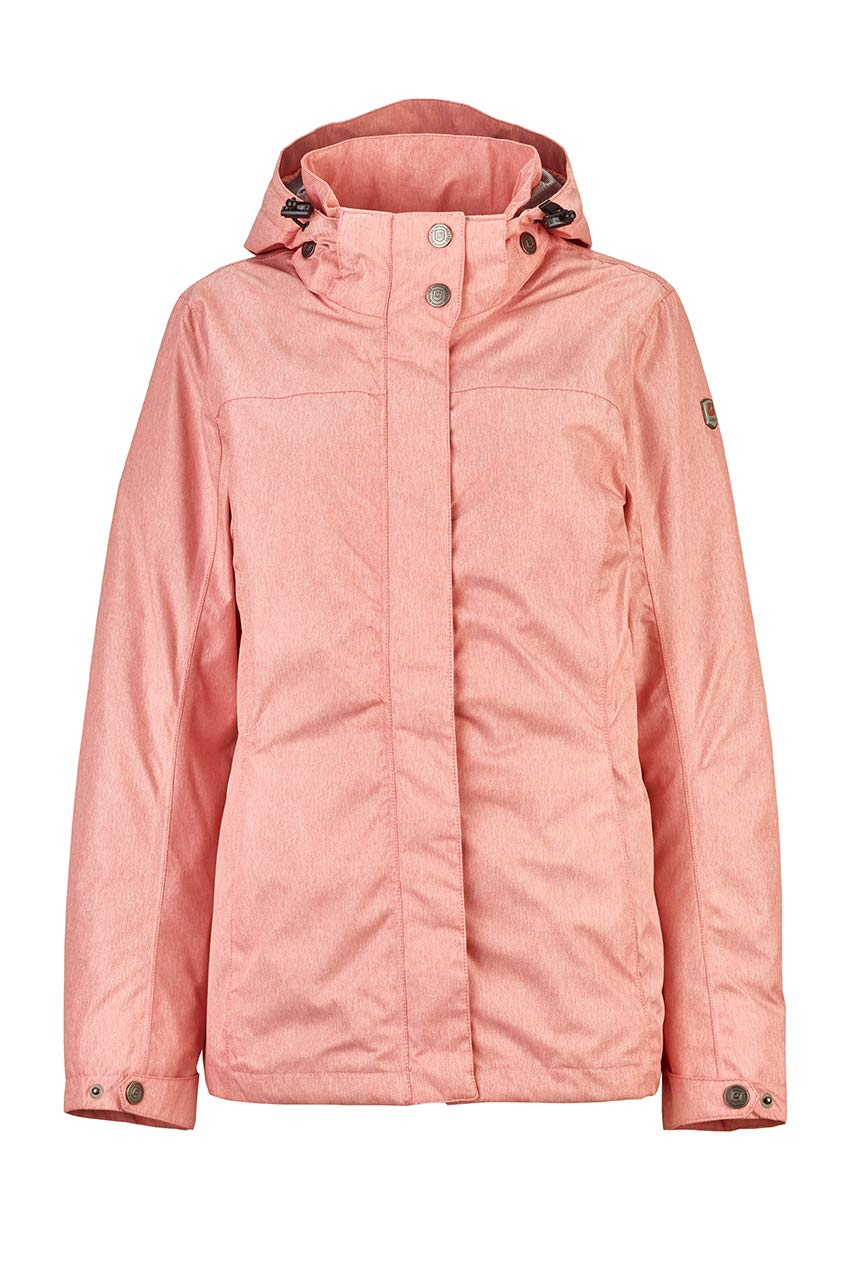 Corail Rose FR   S (Taille Fabricant   38) Killtec Lenera Fonctionnelle d'extérieur Veste de Pluie avec Capuche zippée Femme