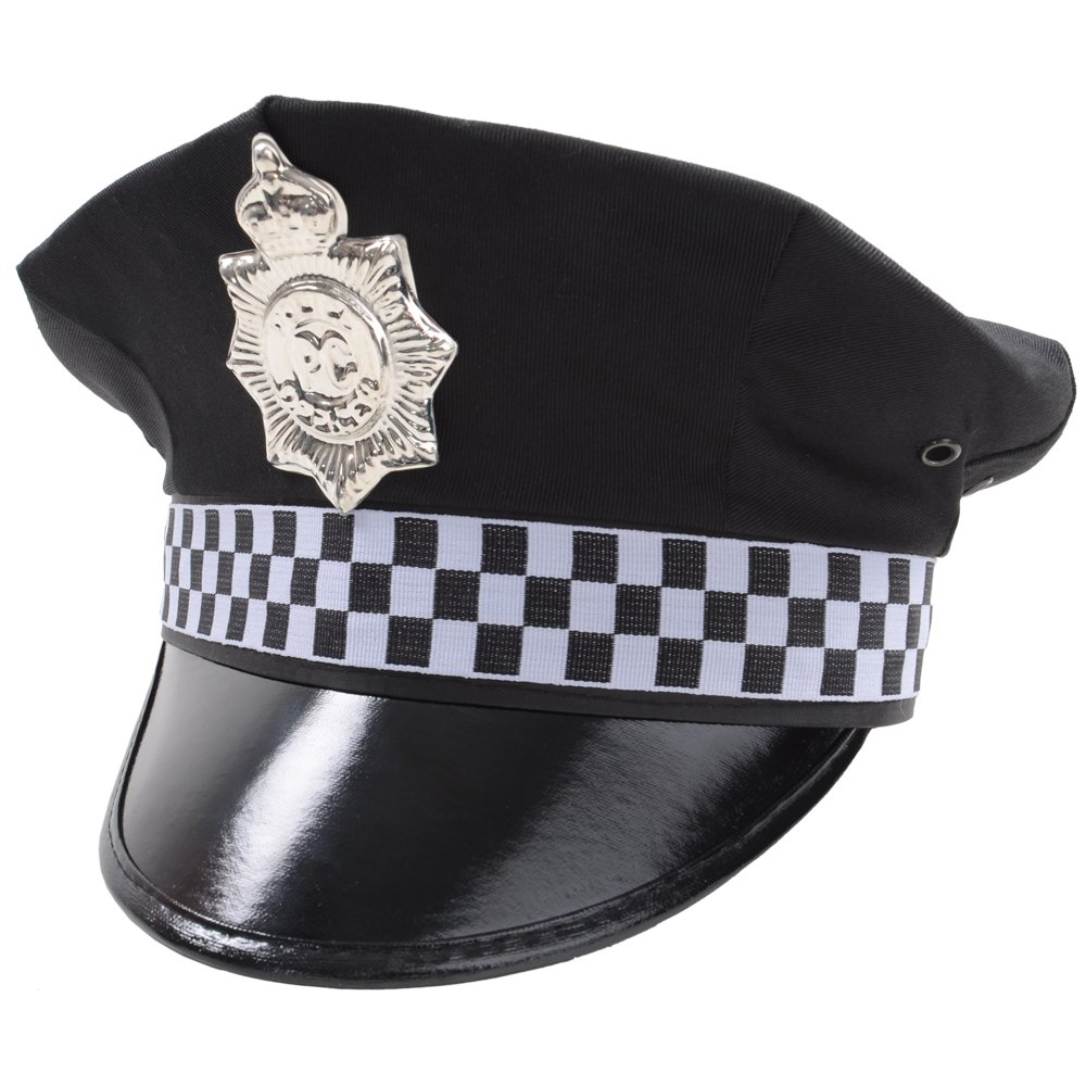police hat accessory for police cops fancy dress amazon co