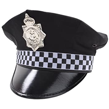 police hat outfit accessory for police cops fancy dress amazon co