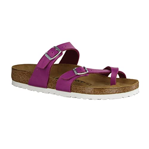 1dfea31cf Image Unavailable. Image not available for. Color  Birkenstock Womens Mayari  Magenta Haze Toe Loop Regular fit Sandals ...