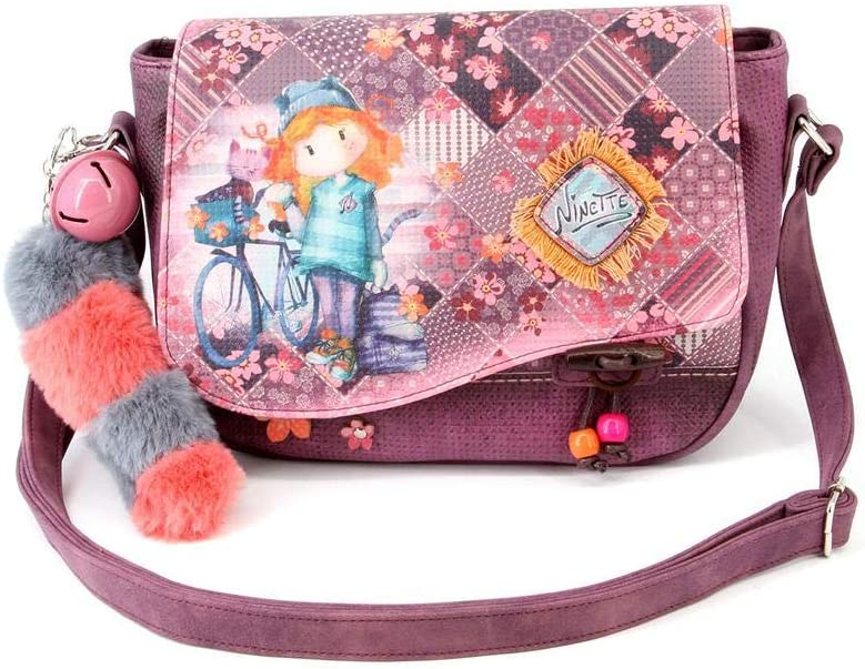 26 cm Multicolore Multicolour Forever Ninette Ninette Bicycle-Muffin Schultertasche Borsa Messenger