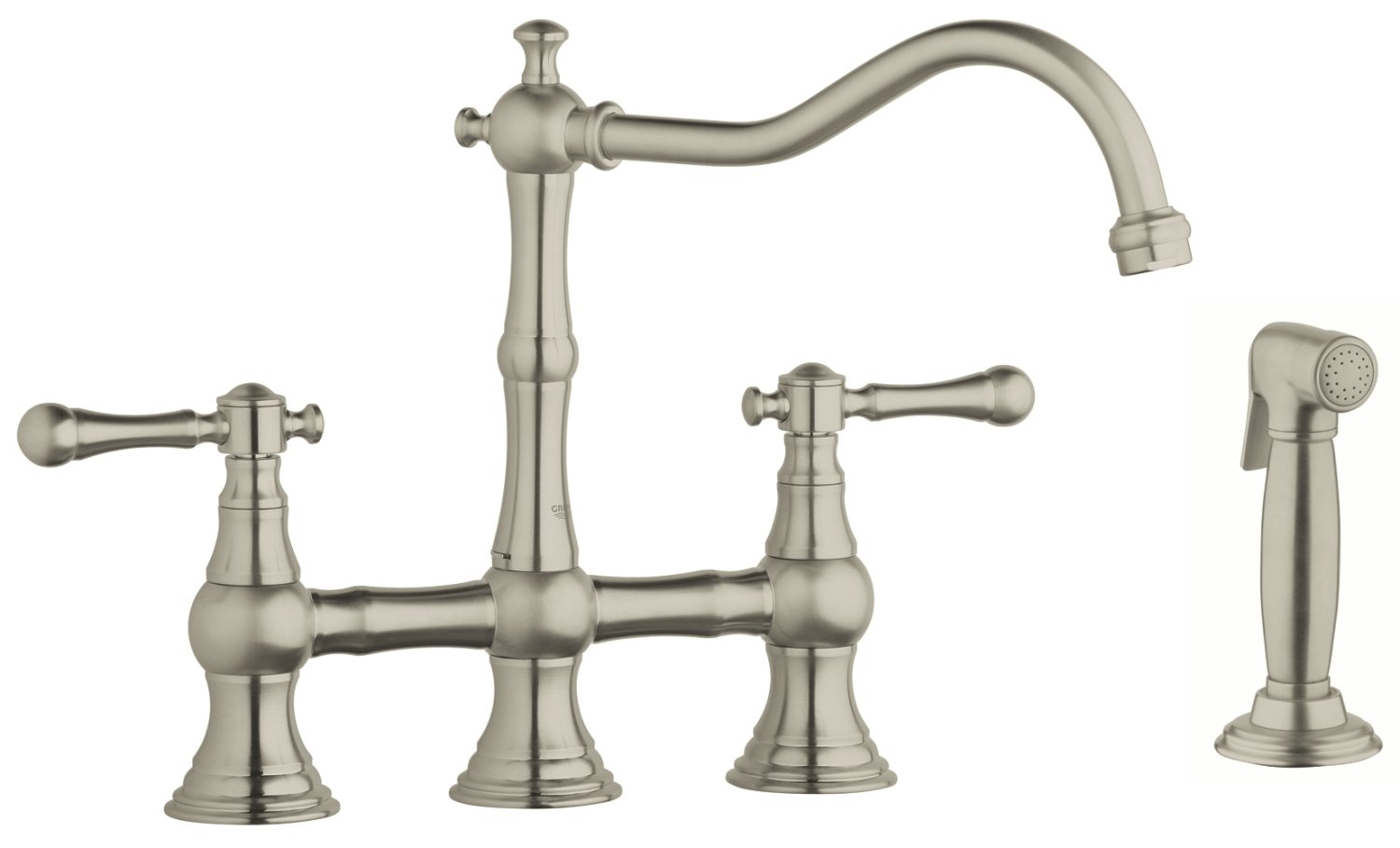 Bridgeford 12 in. 2-Handle Kitchen Faucet With Side Spray - Touch On ...