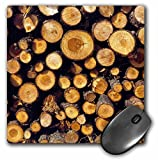 3dRose Usa Oregon Bend Stacked Lodgepole Pine Logs US38 RER0382 Ric Ergenbright Mouse Pad (mp_94086_1)
