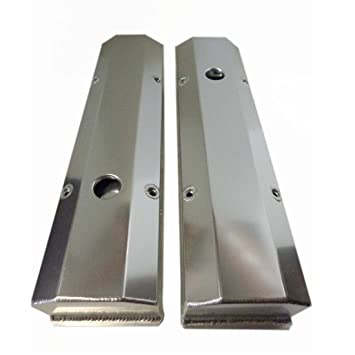 SB Chevy polished Aluminum Tall Valve Covers 1/4