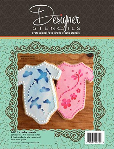 Baby Onesie Cookie Cutter and Stencil Set by Designer Stencils
