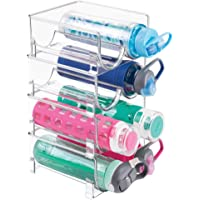 mDesign Plastic Freestanding Water Bottle Storage Organizer for Kitchen Countertop, Table, Pantry, Fridge - Holds Water…