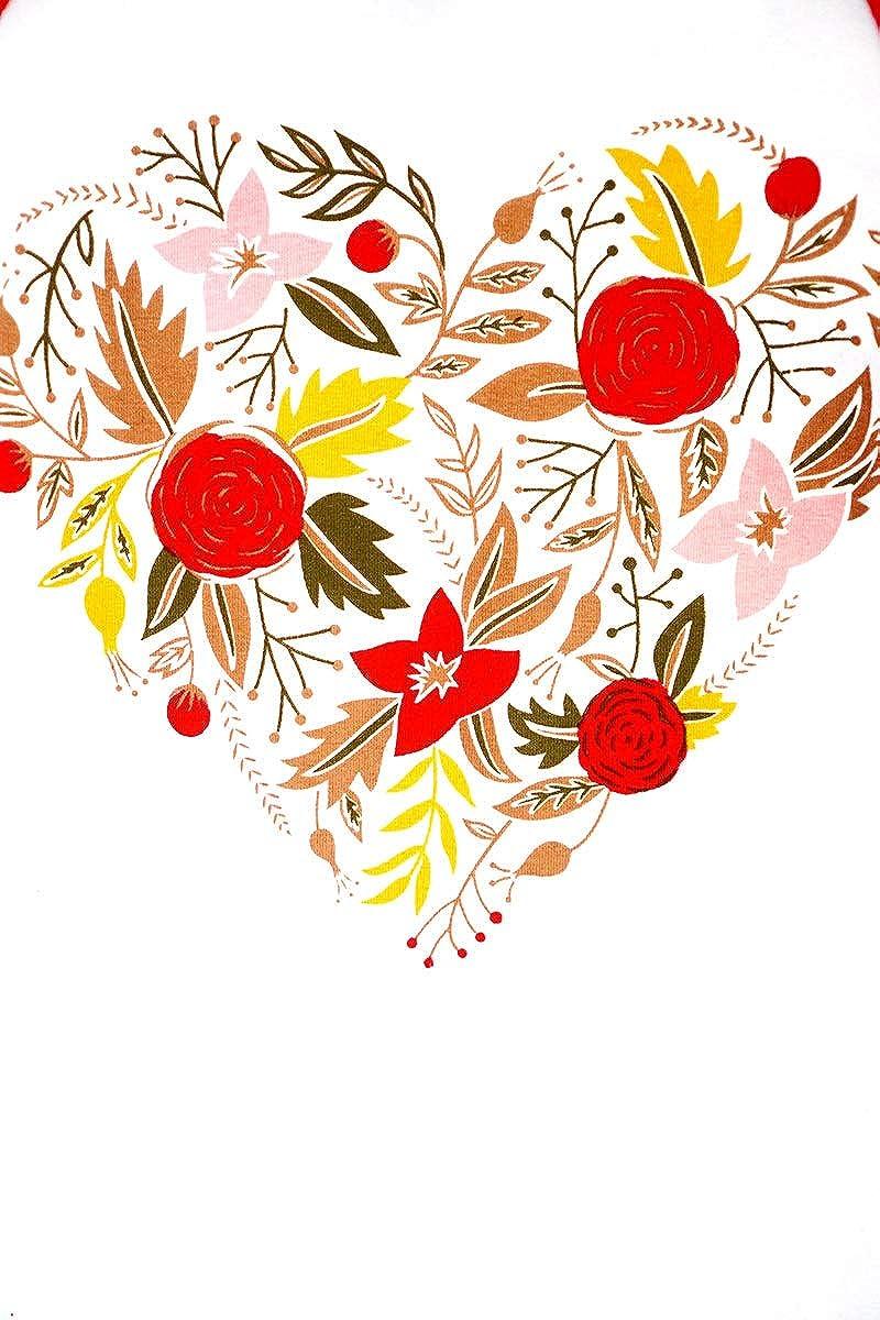 Honeydew USA Boutique Red Raglan Shirt Heart Silhouette