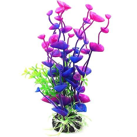 NaiCasy Artificial decoración del Acuario Marino Flor de la simulación de la Planta al jardín Ornamento