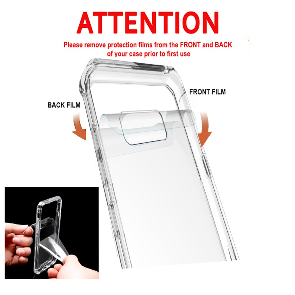 Samsung Galaxy S8+ Plus, XFEND [ Drop / Shock / Scratch Absorption Protection ] TPU Bumper + PC Back Case for Samsung Galaxy S8 Plus cases Smartphone (Clear)
