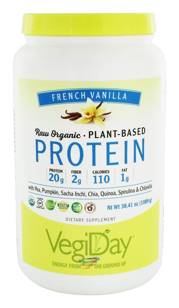 Natural Factors - Raw Organic Vegan Protein, Gluten Free, Dairy Free & Non-GMO, Creamy Vanilla, 30 Servings (34 oz)