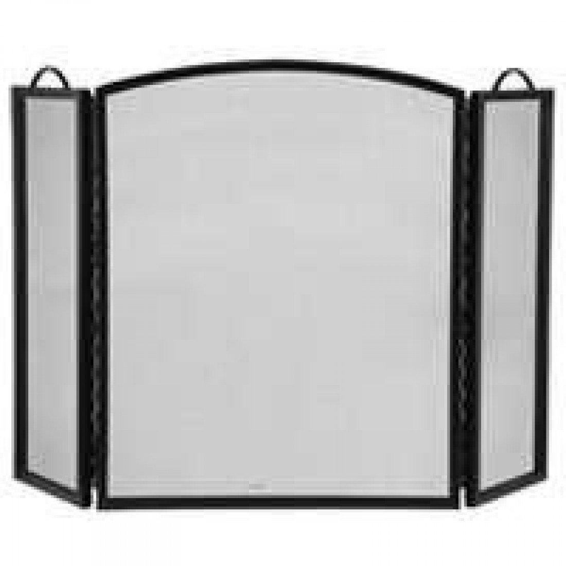 Amazon Com Homebasix Cpo90505bk3l 3 Panel Fireplace Screen Black