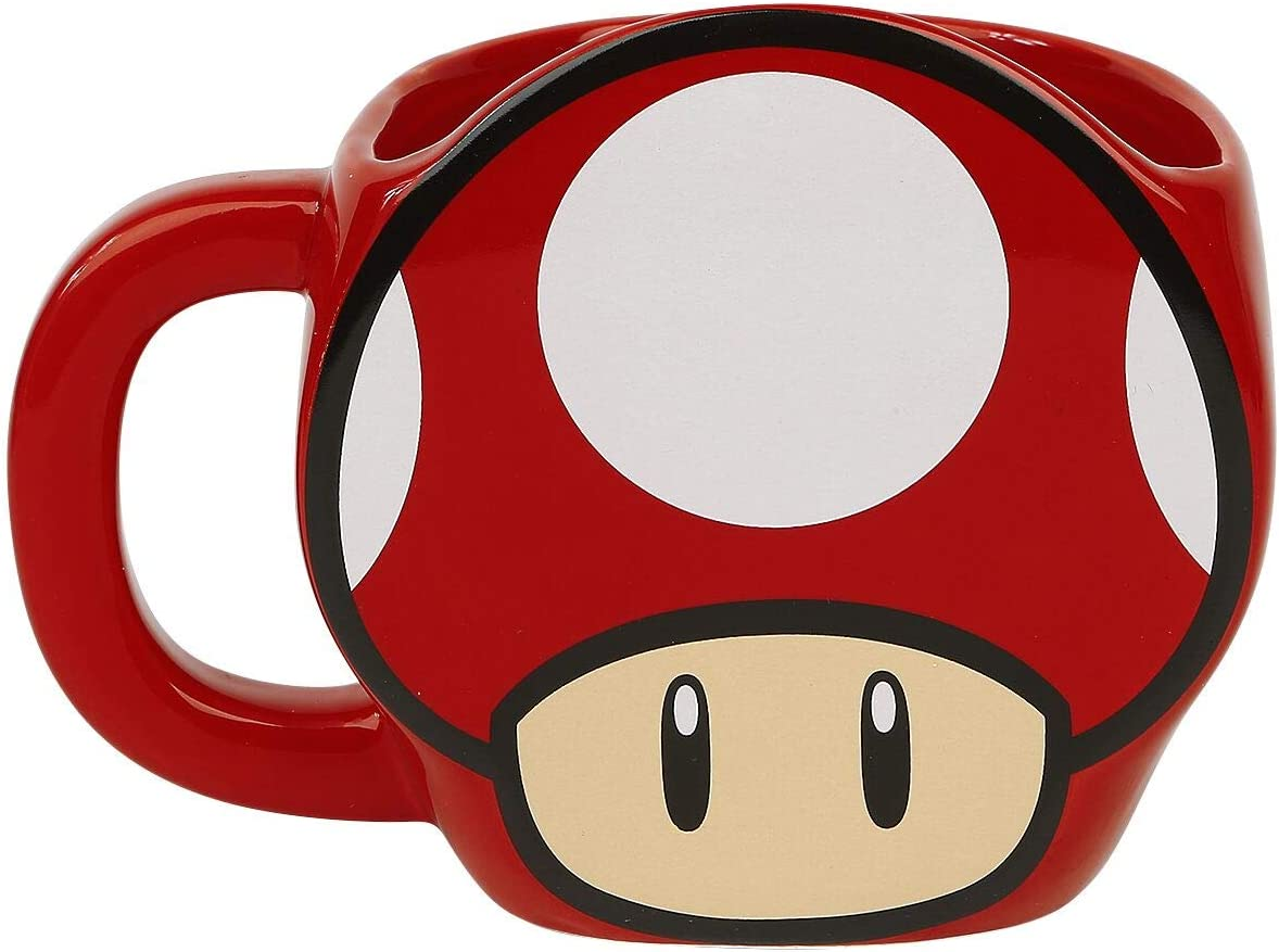 Amazon Com Toad Mushroom Coffee Cup Super Mario Bros Nintendo Collectible Coffee Mug Kitchen Dining