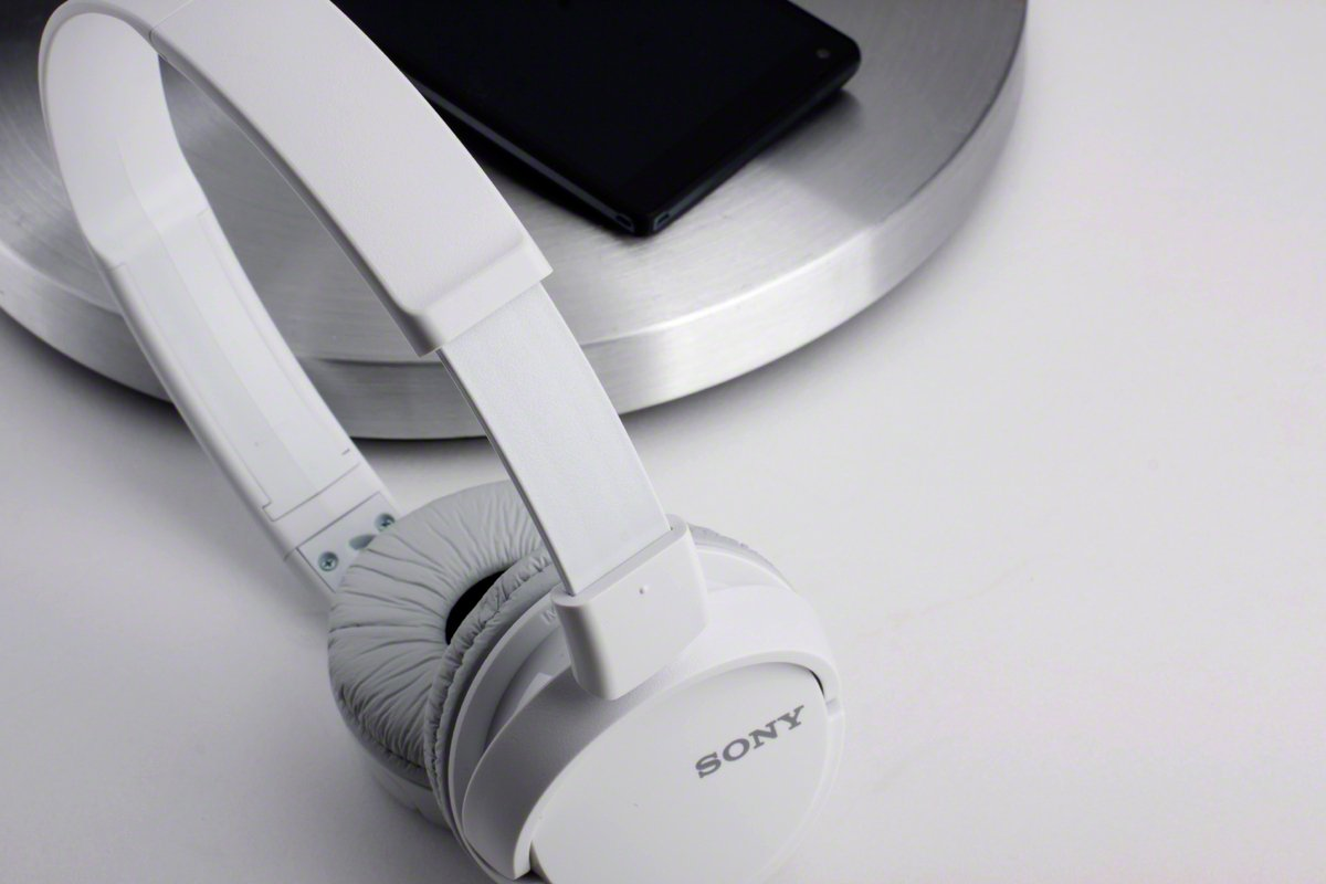 Black Sony MDRZX110AP ZX Series Extra Bass Smartphone Headset with Mic