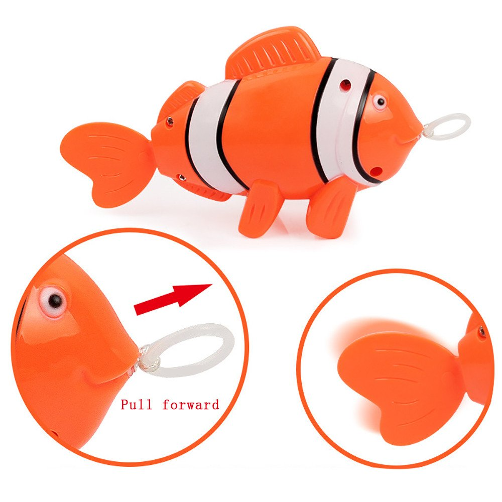 Kanzd Baby Kids Bathing Toys Wash Play Cartoon Pull Educational Toys (C)