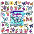 Savvi Glitter Tattoos ~ 50 Dazzling Designs ~ Hearts, Butterflies, Flowers, and More! by Savvi