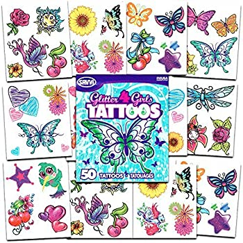 56ad58b748372 Crenstone Glitter Tattoos ~ 50 Dazzling Designs ~ Hearts, Butterflies,  Flowers, and More!