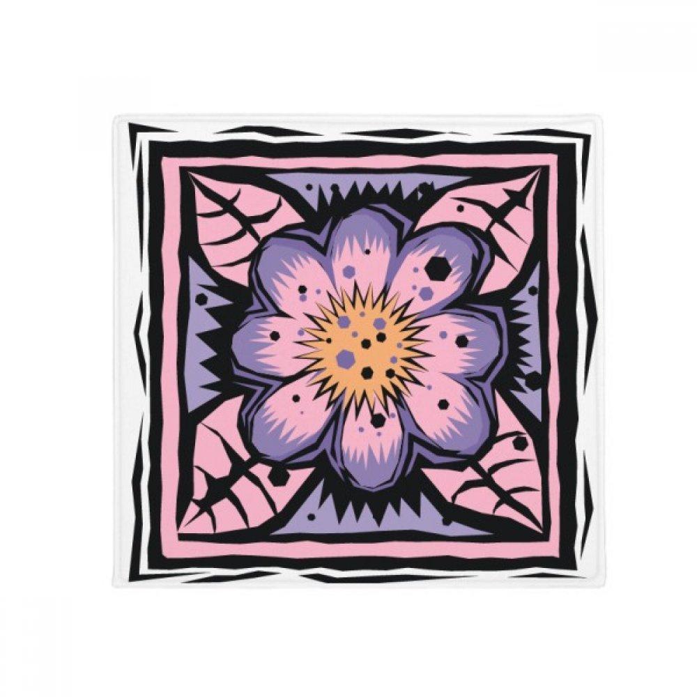 DIYthinker Purple Flower Mexicon Culture Element Engraving Anti-Slip Floor Pet Mat Square Home Kitchen Door 80Cm Gift