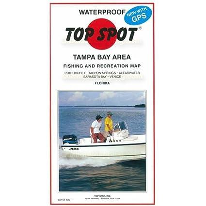 Venice Beach Florida Map.Amazon Com Top Spot Map N202 Tampa Bay Area Fishing And Recreation