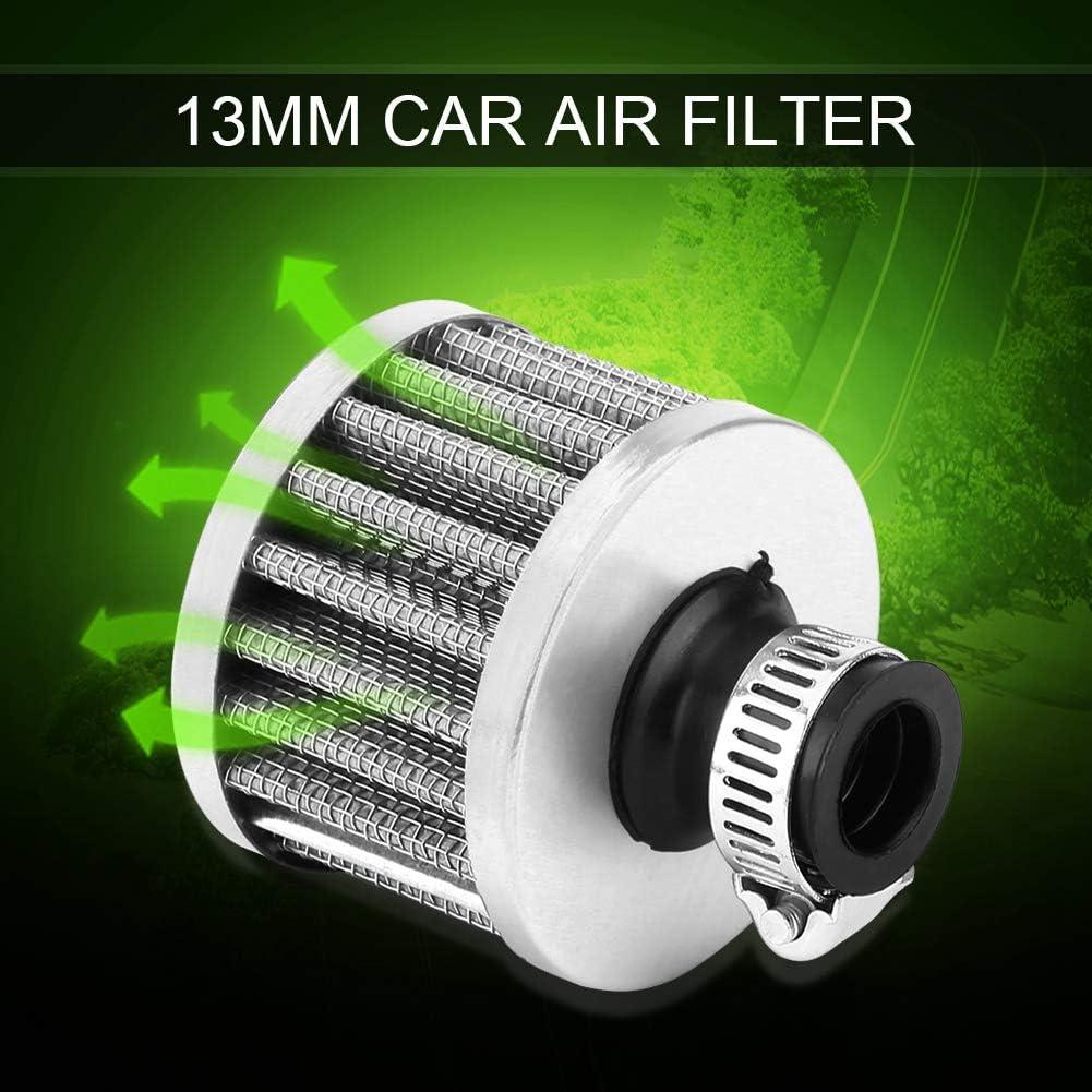 rouge Akozon Filtre /à air dadmission de voiture universel 13mm Kit de filtre dadmission dair froid Reniflard de protection da/ération de carter