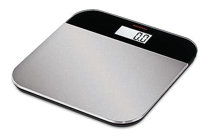 Soehnle Elegance Steel - Báscula de baño (LCD, Negro, Plata, 31 cm