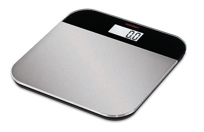Soehnle Elegance Steel - Báscula de baño (LCD, Negro, Plata, 31 cm, 31 cm, 1,8 cm, Vidrio, De plástico, Acero inoxidable): Amazon.es: Salud y cuidado ...