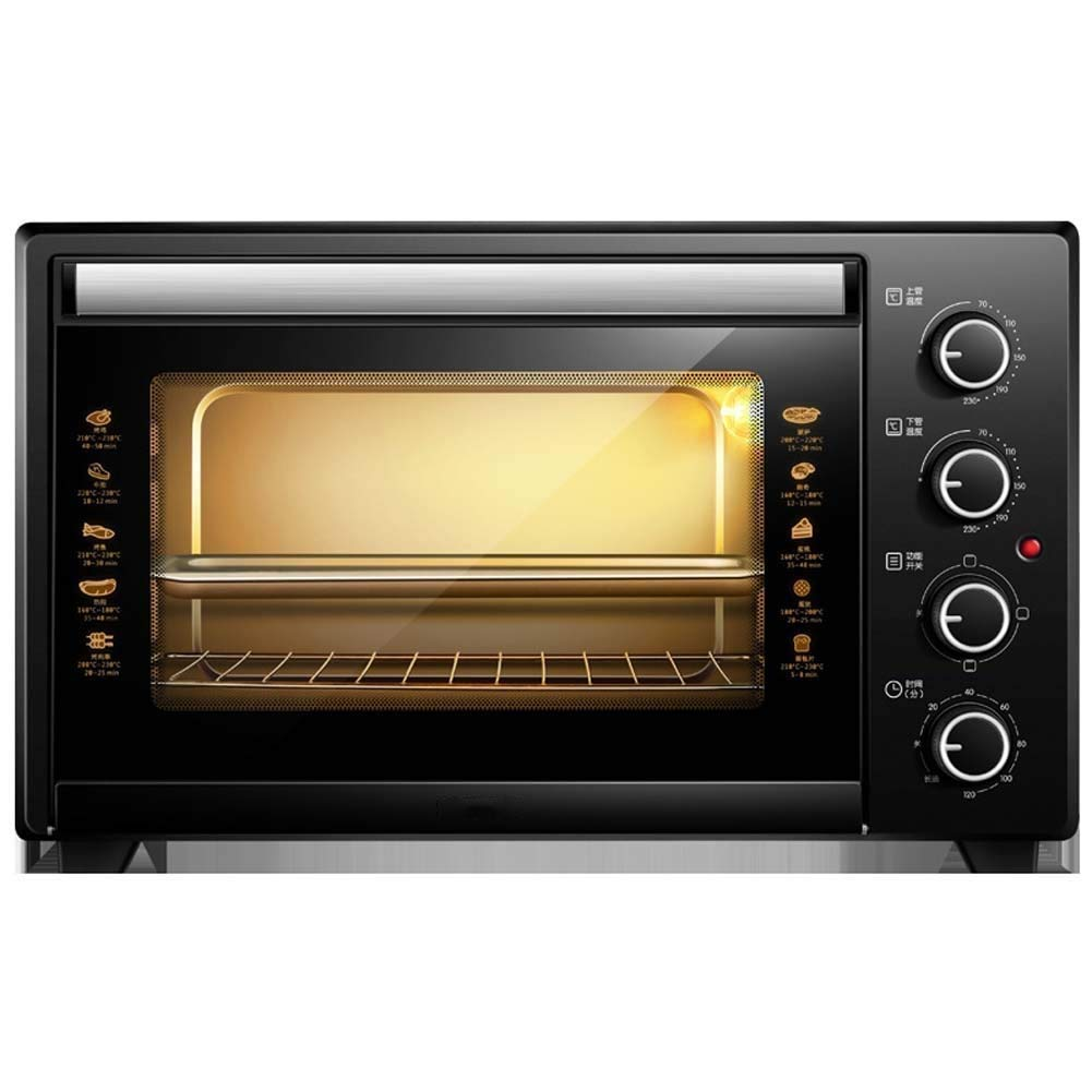 HIZLJJ Extra Wide Convection Countertop Toaster Oven,Includes Bake Pan,Broil Rack & Toasting Rack,Stainless Steel Electric Oven Home Baking Small Multi-function