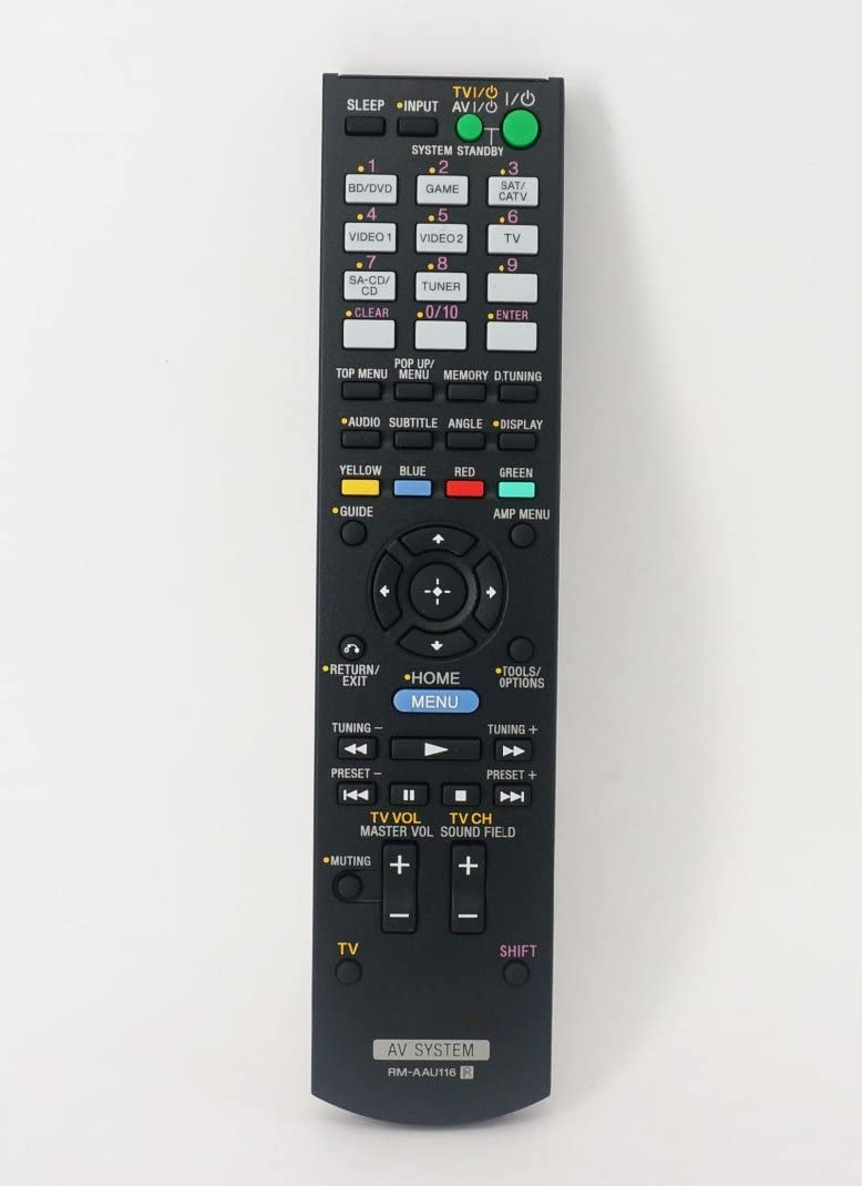 Replacement Remote Control for Sony STR-DH550 STR-DH540B STR-DH740 STR-DH830 AV System Receiver