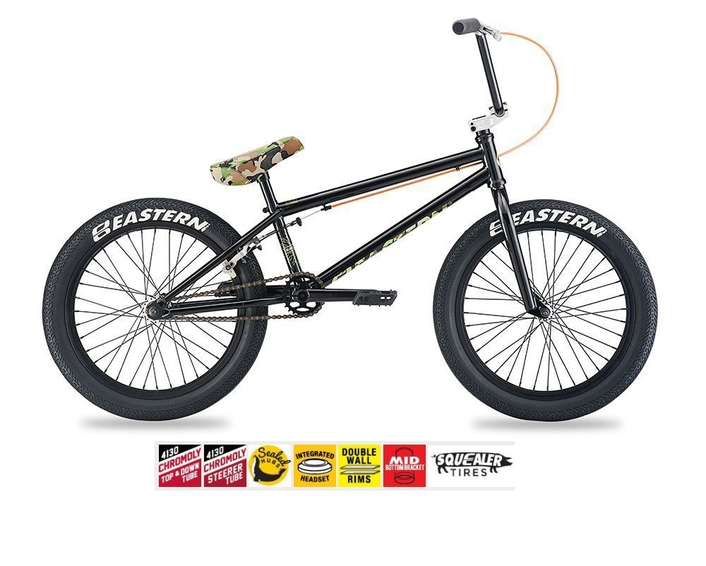 Eastern Traildigger BMXバイク2017自転車ブラックand Camo B074F9LQLD