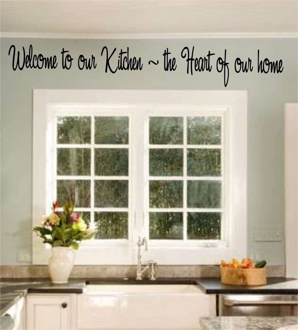 Welcome To Our Kitchen - Wall Art Decal - Home Decor - Famous & Inspirational Quotes 36inx4