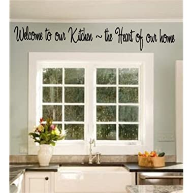 Welcome To Our Kitchen - Wall Art Decal - Home Decor - Famous & Inspirational Quotes 45inx5