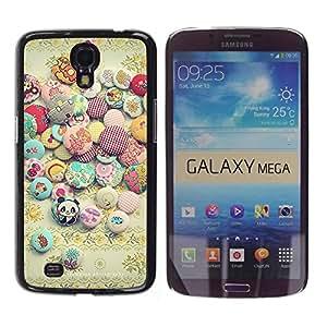 FECELL CITY // Duro Aluminio Pegatina PC Caso decorativo Funda Carcasa de Protección para Samsung Galaxy Mega 6.3 I9200 SGH-i527 // Sun Stones Happy Positive Stones