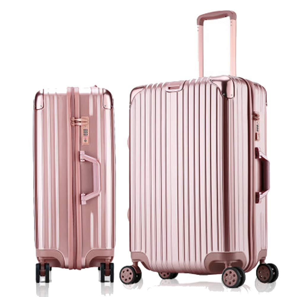 BAG トランクトロリーケース 学生用トロリーケース スーツケース パスワードケース 搭乗ケース キャスターラゲット S BAG000715 B07QVQG8ZS ローズゴールド Small