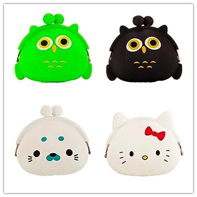 Micom Mini Candy Color Cute Animal cambio Monedero Caso de ...