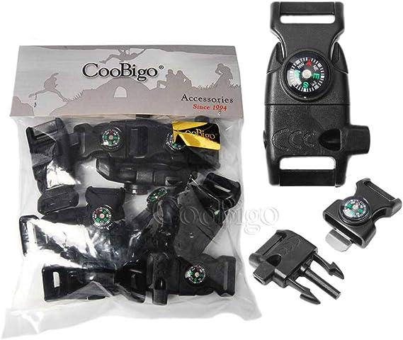 15in1 Outdoor Flint Scraper Compass Weatherglass Whistle Buckle Survival Kits