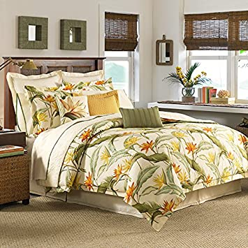amazon com tommy bahama 205545 birds of paradise comforter set