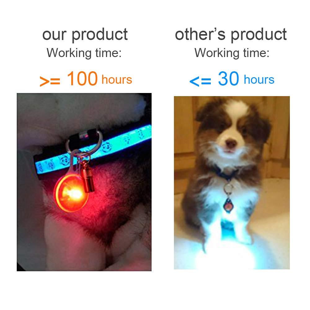 Yosemy LED Cane Collare 8pcs Clip-On Pet Luce Luci Colorate Impermeabili Clip su Luci di Sicurezza con Moschettone in Acciaio Inox,Ideale per Escursionisti,Zaini per Bambini,Cani,Gatti