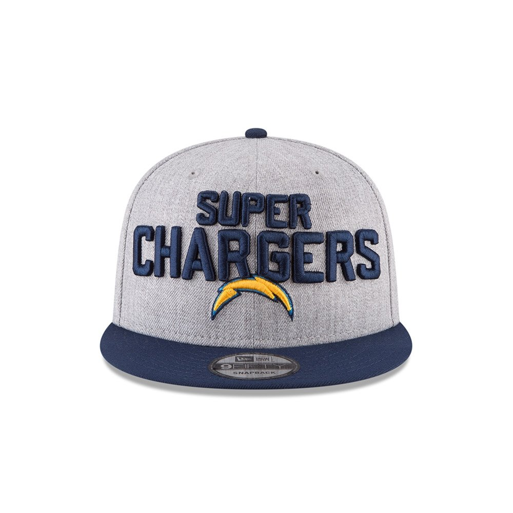 Amazon.com   New Era Authentic Los Angeles Chargers Heather Gray Navy 2018  NFL Draft Official On-Stage 9FIFTY Snapback Adjustable Hat   Sports    Outdoors 1c5336814
