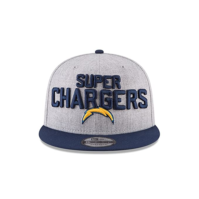official photos fd0e8 1ed8d Amazon.com   New Era Authentic Los Angeles Chargers Heather Gray Navy 2018  NFL Draft Official On-Stage 9FIFTY Snapback Adjustable Hat   Sports    Outdoors
