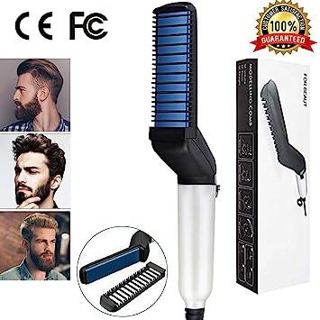 Amazon.com: Peine alisador de barba rápido, multifuncional ...