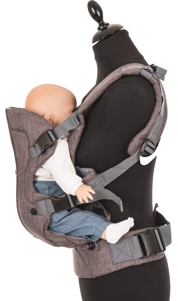Fillikid Couffin pour enfant avec Vario Top   Ventral   Porte-bébé dorsal  ergonomique   Sangle d épaule et ceinture réglable   pour nouveau-né et bébé  de 3 ... 1081c2e0af5
