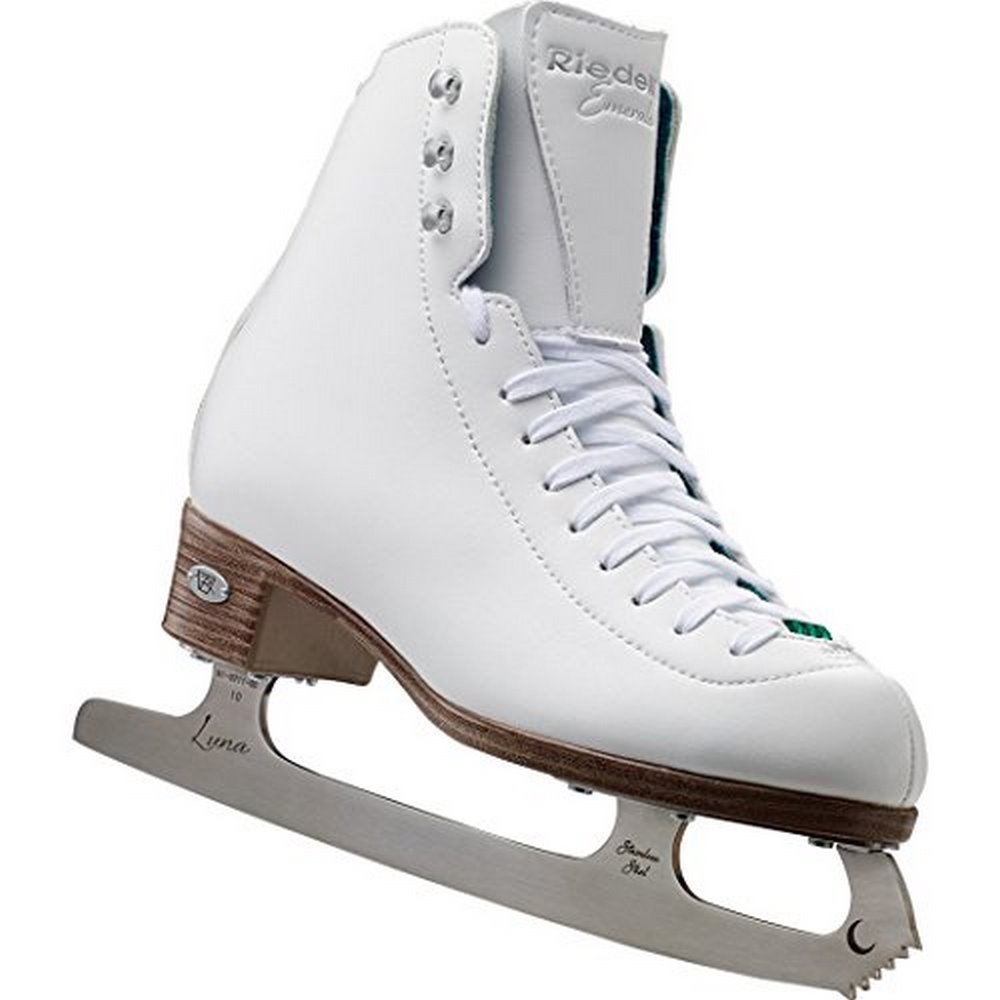 Riedell 119 Emerald / Womens Recreational Figure Ice Skates / Color: White / Size: 6
