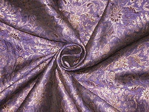 Silk Brocade Fabric Purple Metallic Gold 44 Hobbies Home Decor Sewing Fashion Doll Dress Furnishing Interior By Puresilks Amazon De Kuche Haushalt