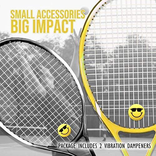 Alien Pros Tennis Racket Vibration Dampener (2-Pack) - Perfect Shock Absorber Stablize Your String for Better Performance - Fun Dampeners Set (2-Pack)