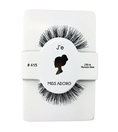 2b6431bb4d2 Amazon.com : Miss Adoro #415 Destiny False Eyelashes 100% Human Hair Faux  Lashes 6 PACK : Beauty