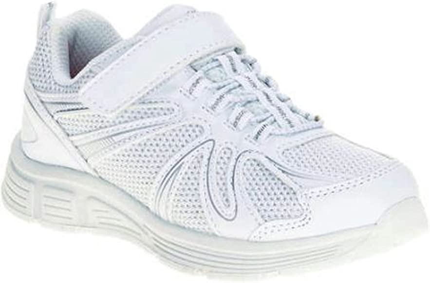 NWT Girls Danskin Now White Athletic Running Shoes Sneakers Youth Size 5