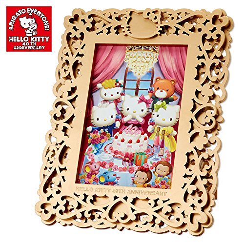 [Hello Kitty]Wooden picture frame 40 year anniversary party