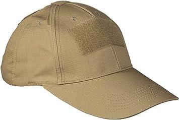 Gorra de béisbol táctica, color Marrón, tamaño talla única: Amazon ...
