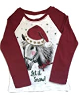 girls christmas shirts long sleeve holiday graphic tshirts with glitter accents - Christmas Shirts For Girls