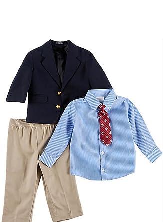 f93eefe1f Amazon.com: Nautica Baby Boys 4-pc. Suit Set, ELO Navy (24M): Clothing